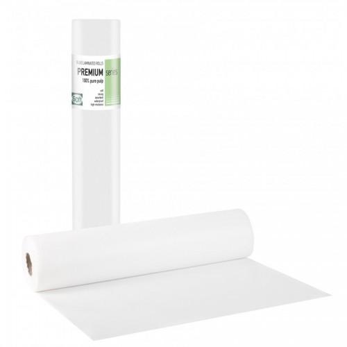 PREMIUM PLUS Πλαστικό + Χαρτί Λευκό - 58cm x 50m